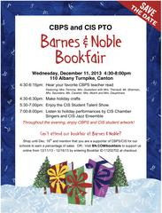 Barnes & Noble Night Will Benefit Cherry Brook, CIS PTOs